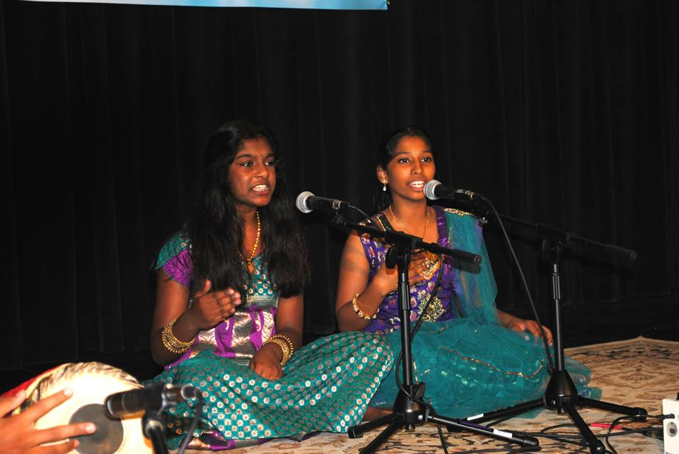 Some of K.S. Resmi's Online Carnatic Music Schools students performing in the Annual Day Recital & Competition, Murugan Temple of North America, Maryland, USA, June 2014.